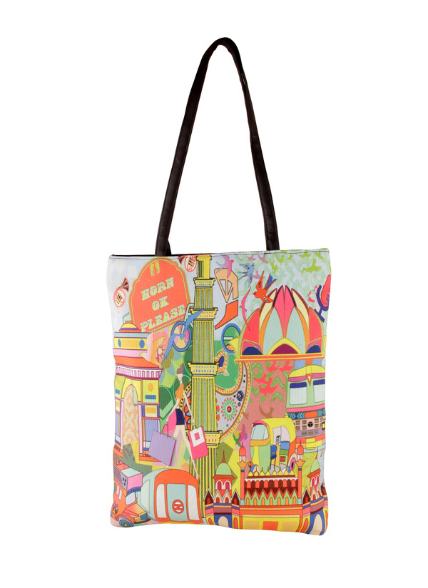 bf91d971156 Indian Fashion Designers - The Purple Sack - Contemporary Indian Designer -  Delhi Tote Bag -