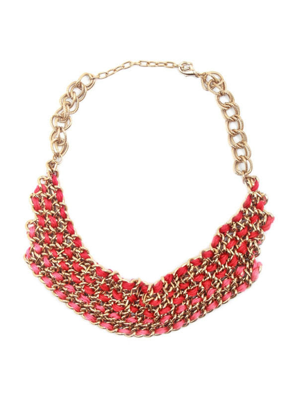 Sannam Chopra | Chunky Red Ribboned Necklace | Shop Necklaces at ...
