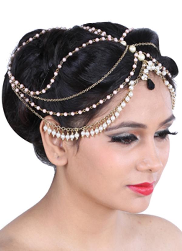 Sannam Chopra Umrao Pearl Hair Chain Shop Head Pieces