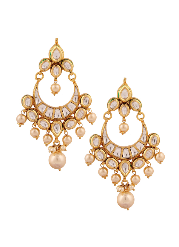 Yosshita and neha pretty kundan chandelier earrings shop indian accessories designers yosshita neha indian designer jewellery earrings yn aloadofball Images