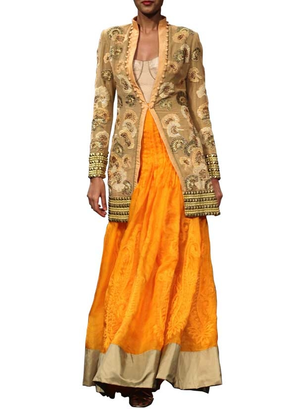 Narendra Kumar Ghagra Inspired Jumpsuit And Jacket Shop Dresses