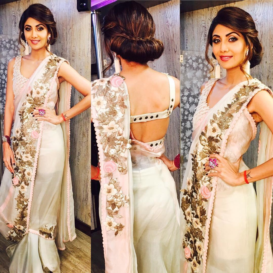 Shilpa Shetty Blooms In Anamika Khanna Outfit  Anamika -4833