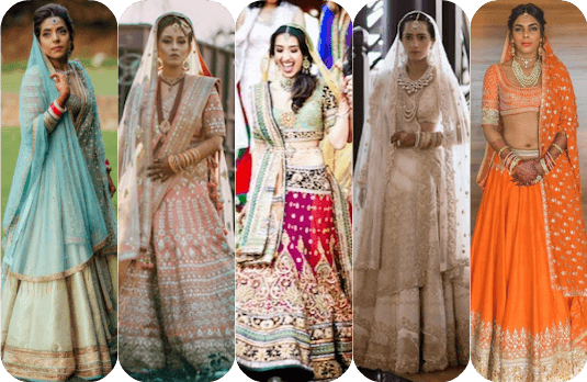 Non-Conventional Bridal Outfit Colours