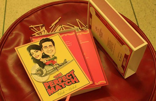 Match box style wedding invite | 5 Ridiculous Indian Wedding Trends-strand-of-silk-Indian weddings