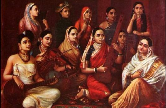 Raja Ravi Varma's painting-strand-of-silk-driven by curiosity