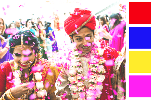 Indian Wedding Colours 101 - What to Wear and What to Avoid