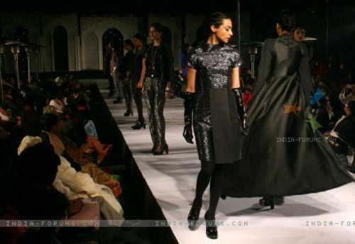 Leather sequin jackets and tops by Indian Designer Rajesh Pratap Singh