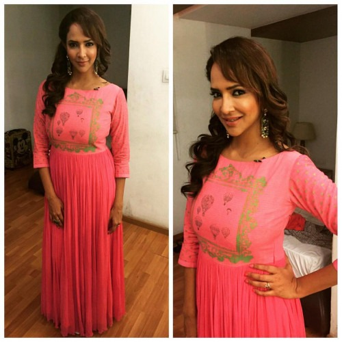 Lakshmi Manchu in an outfit by Nautanky by Nilesh Parashar for her show Boom Boom