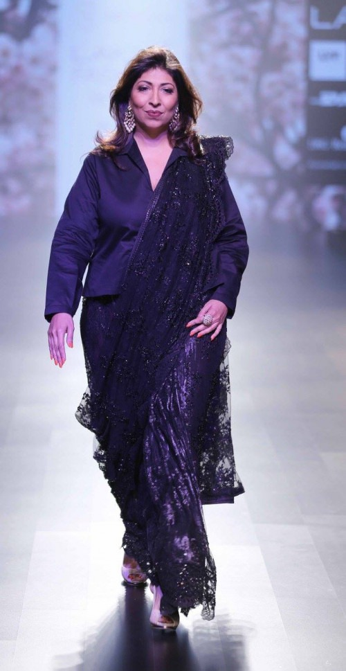 Neeta Lulla-NEETA LULLA AT LAKME FASHION WEEK - AW16 - LOOK 8