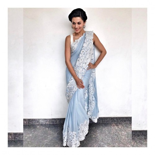 Tapsee Pannu wearing Archana Rao for 'Meelo Evaru Koteeswarudu'