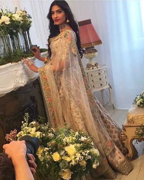 Sonam Kapoor in a Legenga from Sabyasachi's Udaipur collection