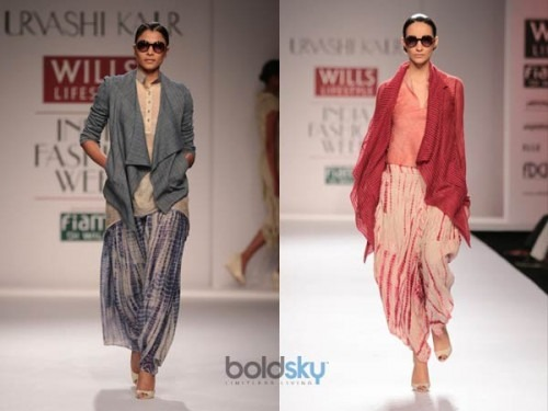 Urvashi Kaur launched her collection at the Wills India Lifestyle Fashion Week 2014