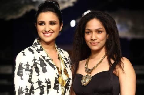 Indian designer Masaba Gupta and her designer sarees