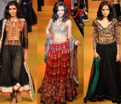 Indian fashion designer Rina Dhaka's Bangalore Fashion Week collection