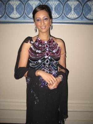 Radhika Oswal wears a Stunning Dress by Designer Tarun Tahiliani from India