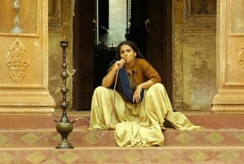 Vidya Balan in a simple yet powerful look created by Rick Roy for the movie Begum Jaan