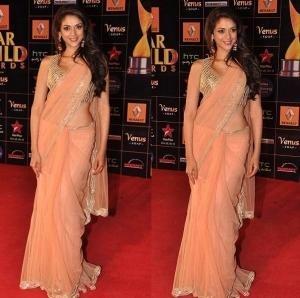 Aditi Rao Hydari Indian Designer Payal Singhal Suit Star Guild Awards 2013