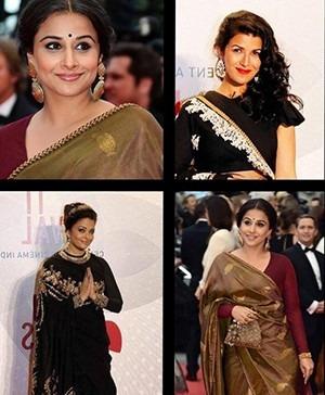 Indian Celebrities Aishwarya Rai Vidya Balan Nimrit Kaur Sabyasachi Cannes