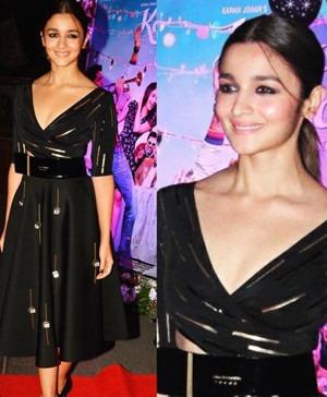 Alia Bhatt Wearing Shivan and Narresh Dress | Alia Bhatt Celebrates In Style!