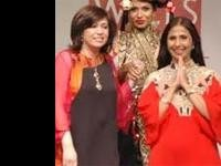Indian Designers Ashmina and Leena at The International Fashion Fair in Korea