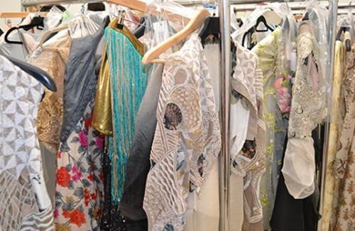 A Backstage Insight into the Fashion Parade London Event | Backstage Clothing Rack