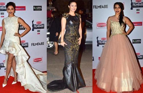 Best and Worst Dressed Celebrities from The Filmfare Awards 2015 | Deepika Padukone, Tanishaa Mukerji and Kajol at the Filmfare Awards 2015