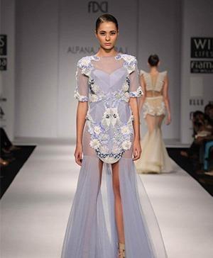 Indian fashion designers - Alpana and Neeraj - Line Conveys Glamour & Gloss
