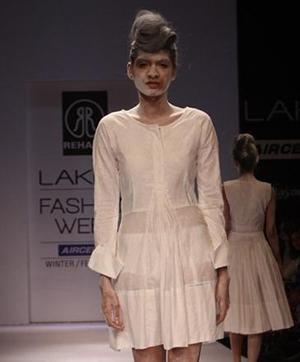 Anavila Misra - Barefoot Models on the Lakme Fashion Week Ramps