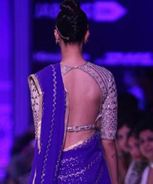 Bare Backs are Back in Fashion | Still from a fashion show by Anita Dongre
