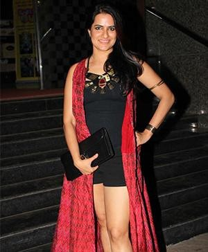 Ms. Mohapatra in Indian designer Anita Dongre's Outfit