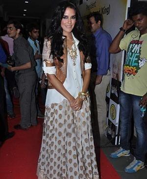 Anita Dongre - Neha Dhupia in Anita Dongre at Baisakhi Celebrations