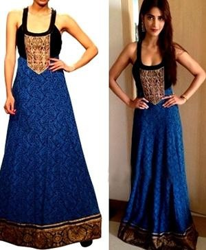 Bollywood Celebrity Shruti Hassan In Anita Dongre to Promote Her Movie