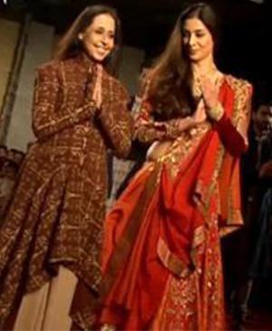 Indian Fashion designer Anju Modi in collaboration with Sanjay Leela Bhansali
