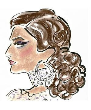 Gladys Perint Palmer and the Art of Fashion Illustration | Sonam Kapoor Illustration by Gladys Perint Palmer