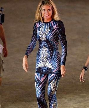 Heidi Klum in an outfit by Indian Designer Manish Arora