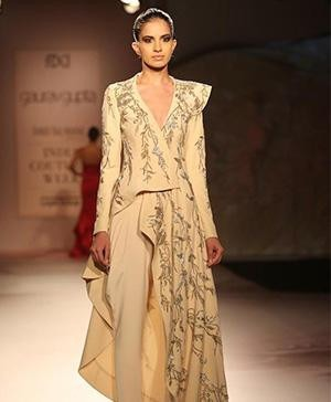Art took centrestage at India Couture Week 2014 - A creation by Indian Designer Gaurav Gupta on the ramp