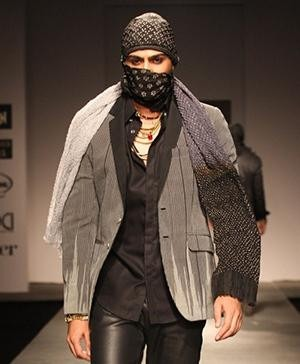 Rajesh Pratap Singh's Models have faces covered in protest