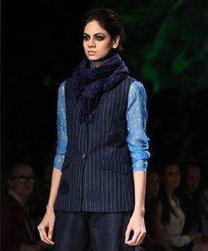 Indian Fashion Designer Rajesh Pratap Singh and his Blue Blood Collection