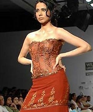 Embroidery and Sequins on dresses and tops by Designer Rajesh Pratap Singh