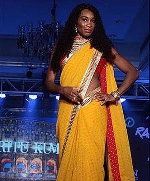 Venus Williams dressed up in a saree for a charity event