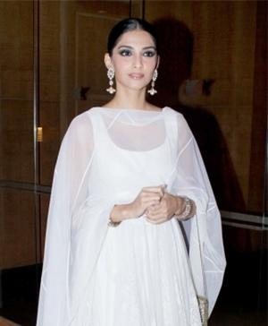 Sonam Kapoor in a Designer Anarkali Suit by Indian Designer Rohit Bal