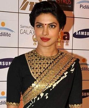 Priyanka Chopra in Indian designer Sabyasachi designer saree
