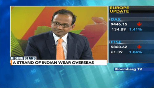 Vivek Agarwal, Founder & CEO of Strand of Silk on Bloomberg TV