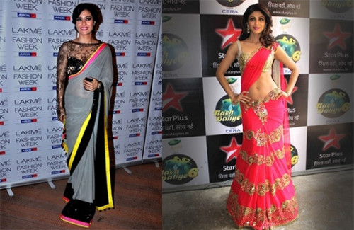 Bollywood Celebrities Spotted in Manish Malhotra Sarees