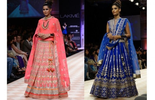 BRIDAL LEHENGAS AT THE LAKME FASHION WEEK