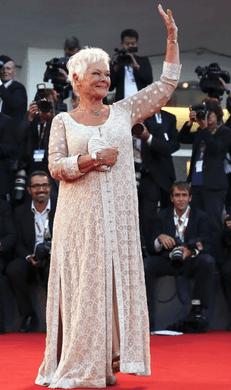 Judi Dench - Abu Jani & Sandeep Khosla Gown at Venice Film Festival