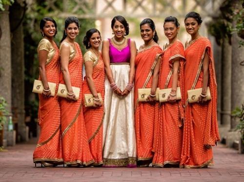 choosing indian wedding bridesmaid dresses indian