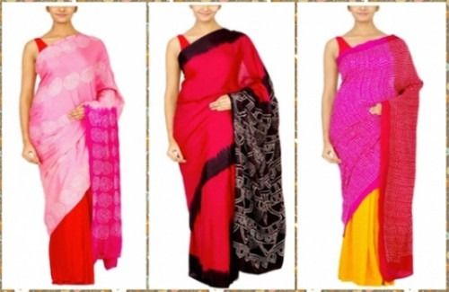 Three Colourful Sarees from Strand of Silk | Coorv Designs - The Rise Of The Statement Saree