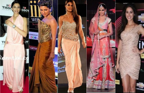Nargis Fakhri, Deepika Padukone,  Chitrangada Singh and Jacqueline Fernandez | Bollywood Celebs Wearing Strand Of Silk (Part 1)
