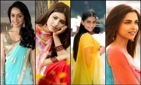 Glamorous Bollywood Divas Go Desi in Indian Designer Fashion